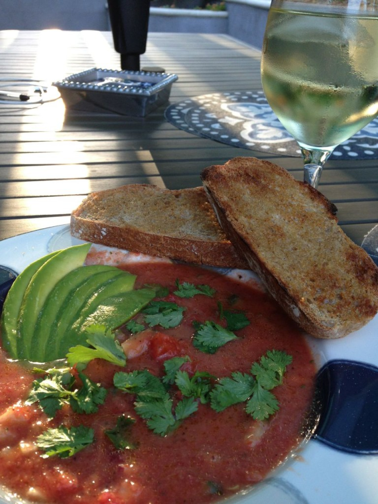 Garden Fresh Gazpacho served al fresco