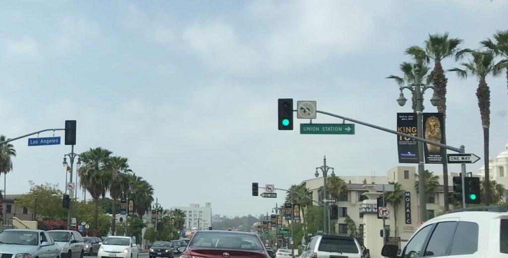 LA traffic scene