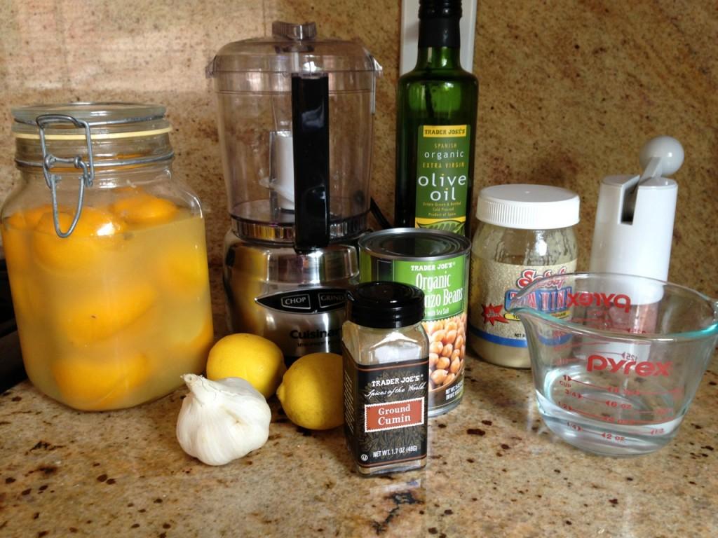 Hummus with Preserved Lemon ingredients