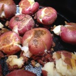 pan roasted microfarm potatoes with olive tapenade